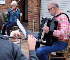 Playing in a garden – accordion