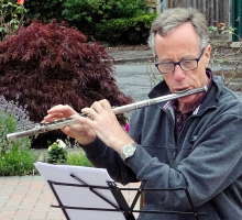 Playing in a garden – flute